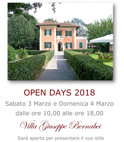 Open Days Marzo 2018